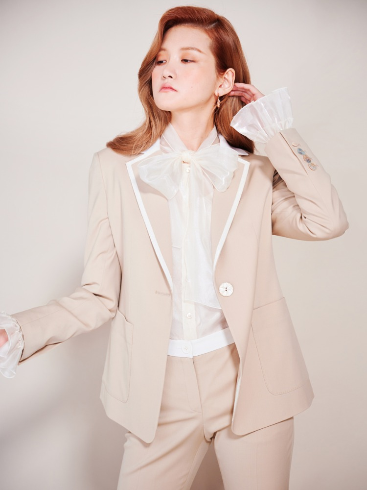 Wool Collar Tape Jacket