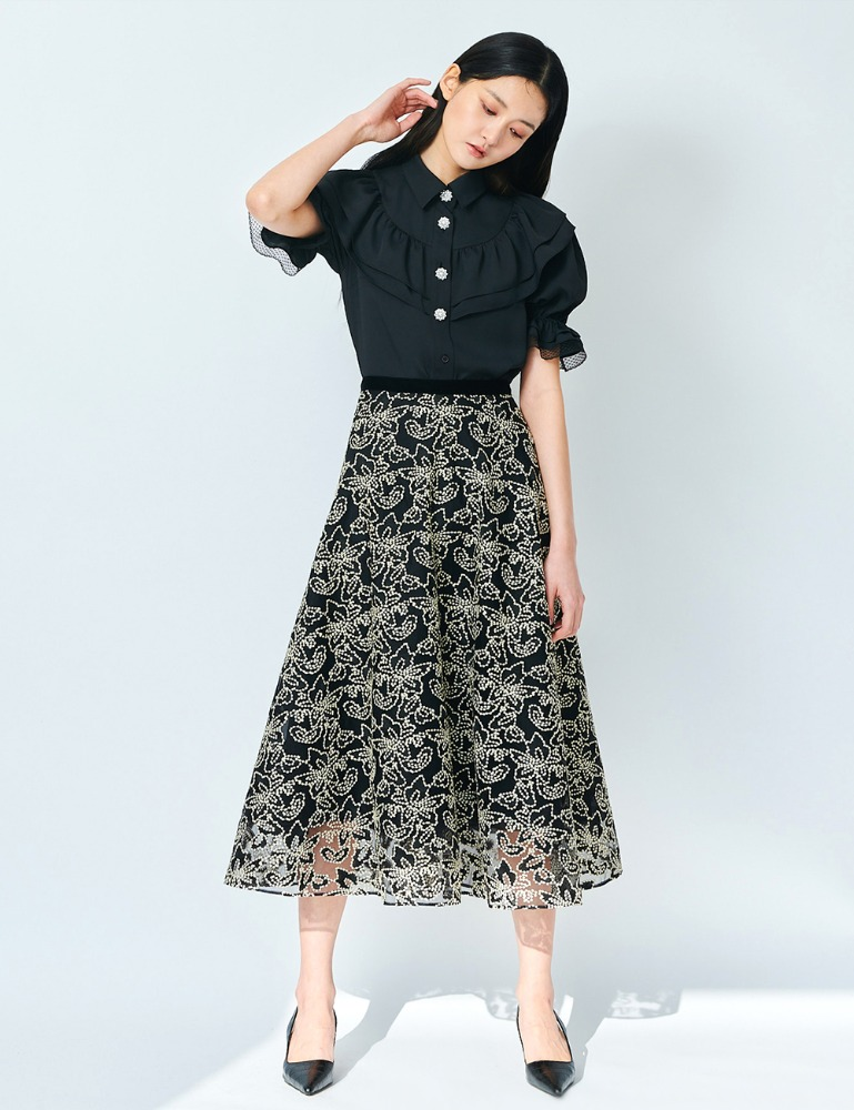 Night Flower Tulle skirt