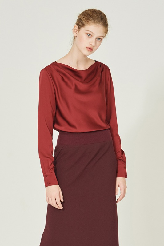 Man Ray Blouse (burgundy)