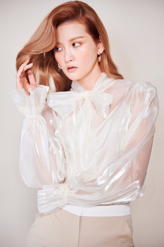 Organza Blouse (Ivory)
