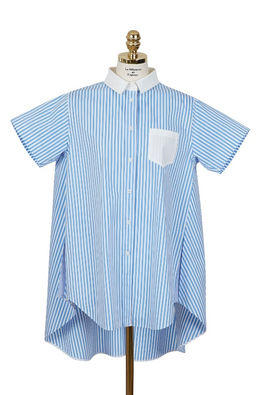 Striped Long Shirt (blue)