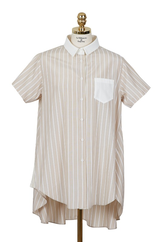 Striped Long Shirt (beige)