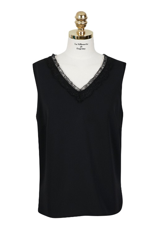 V-neck Sleeveless