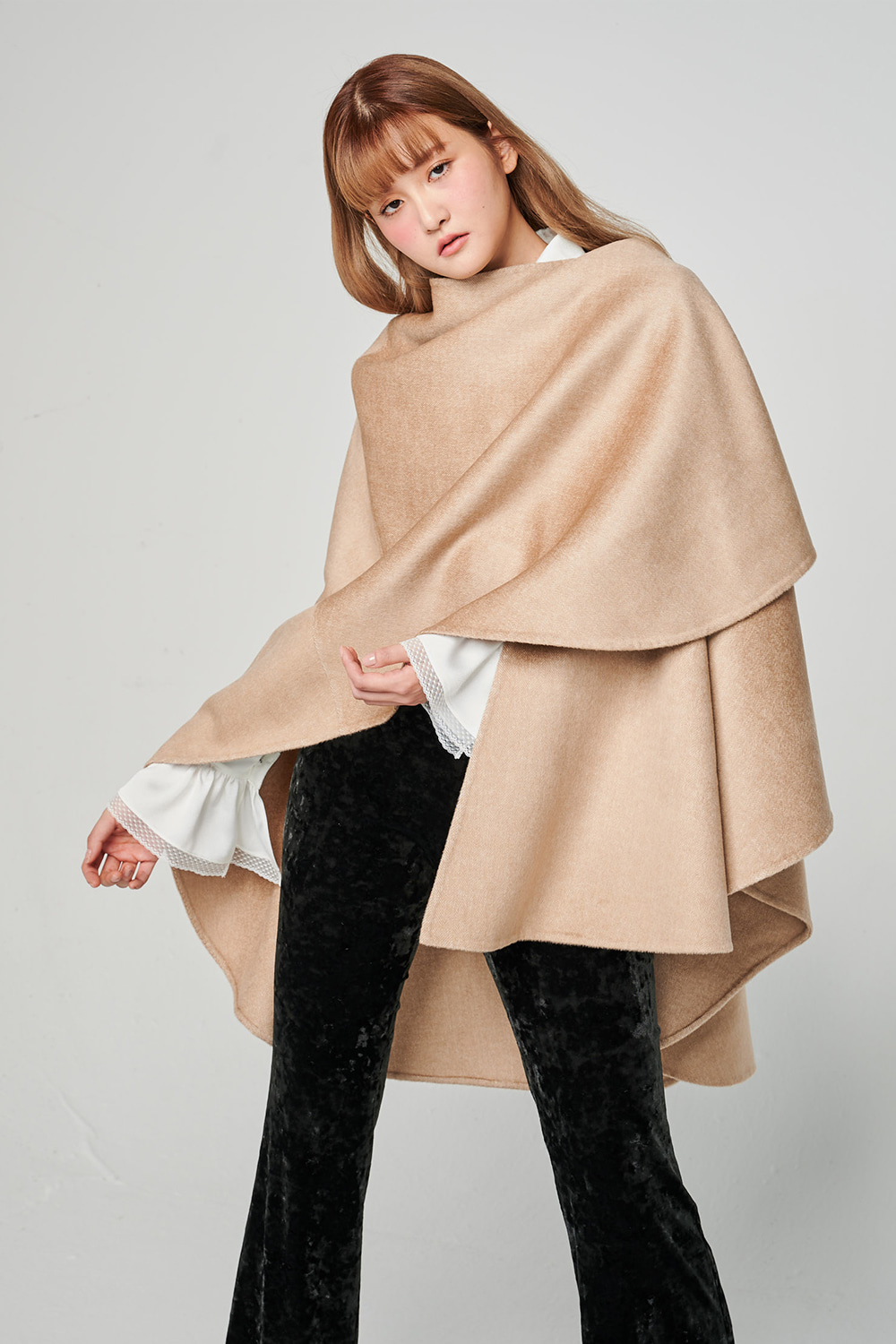 Classic Shawl Cape ( Cashmere Wool )