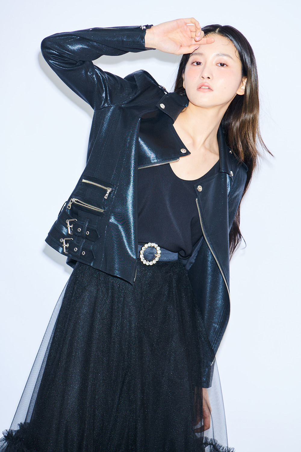Eugenny Rider Jacket - (black,blue)